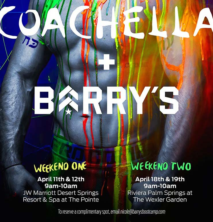 Coachella Barry's Invite
