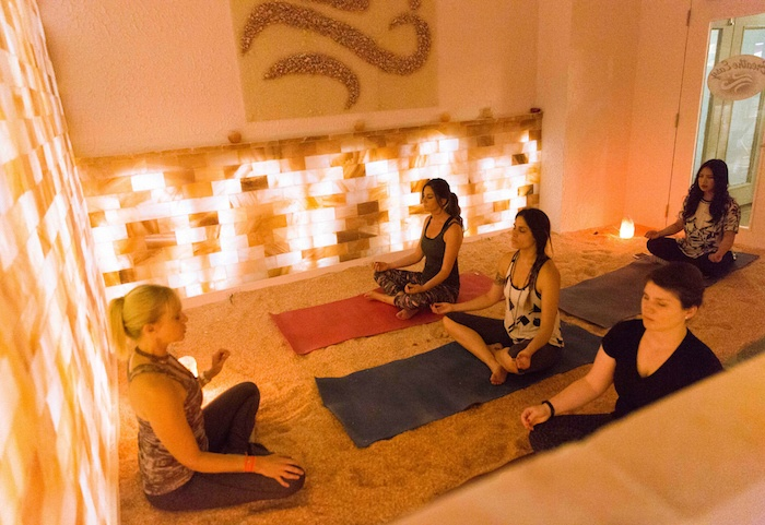 Now you can practice yoga in a salt chamber