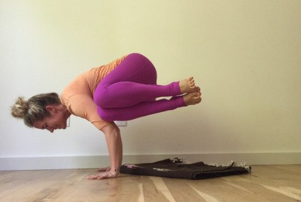 Kathryn Budig's tips for building core strength (to master side crow)