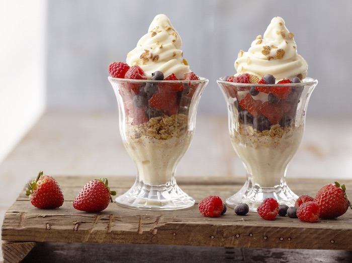 Mango Breakfast Parfait With Cherry-Banana Soft Serve Recipes ...