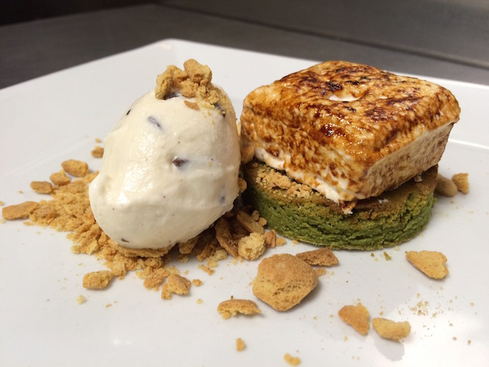 Mira's Smores with Matcha Green Tea Brownie