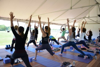 Now you can practice yoga in a Hamptons vineyard (for a good cause)