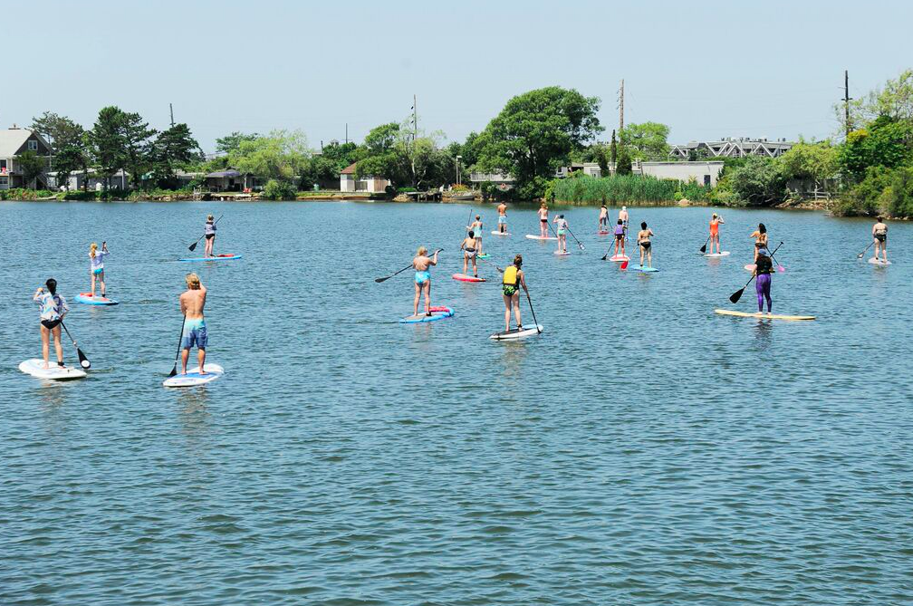 Stand up paddle boarding at July Surfsides