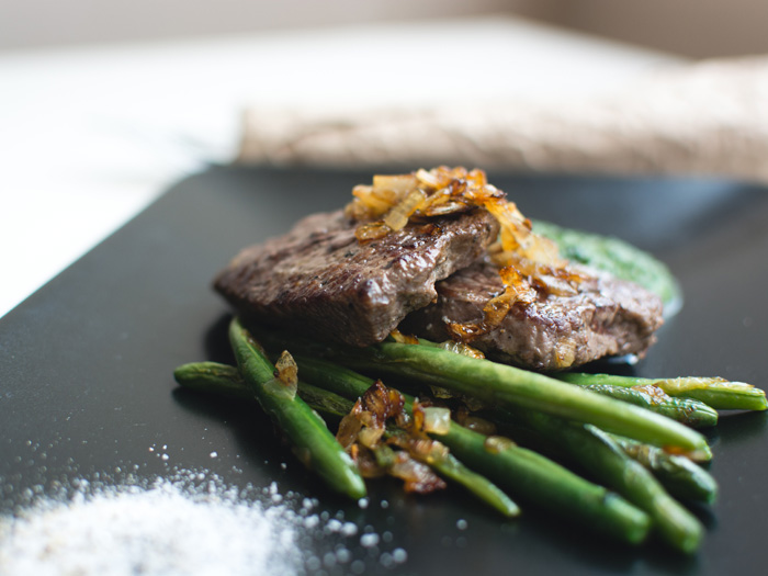 Paleo steak meal
