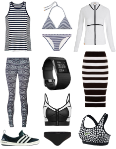 Your chic black and white workout wardrobe update