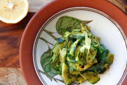 Quick-prep recipe: Turmeric Zucchini Noodles with Cilantro Tahini