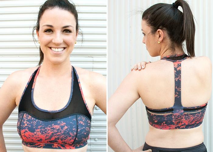 Busty in sports bra