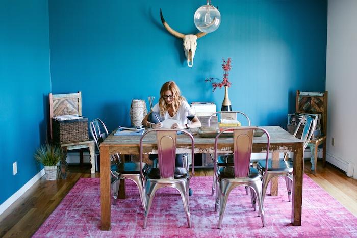 Jess Davis at home