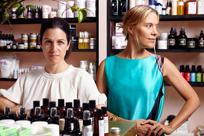 Cindy DiPrima (left) and Kerrilynn Pamer (right) of CAP Beauty in their West Village spa/retail location. New York, NY (August 2015). Photo © John von Pamer