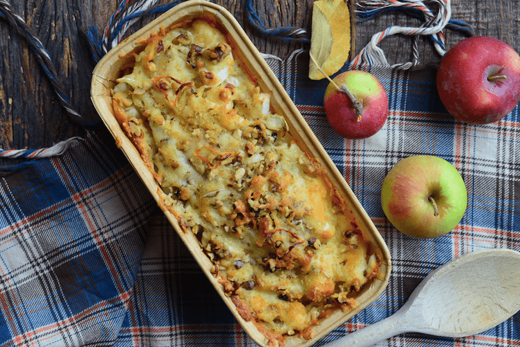 Baked Fennel and Apples with Cheddar