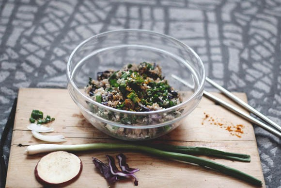 Tahini quinoa bowl