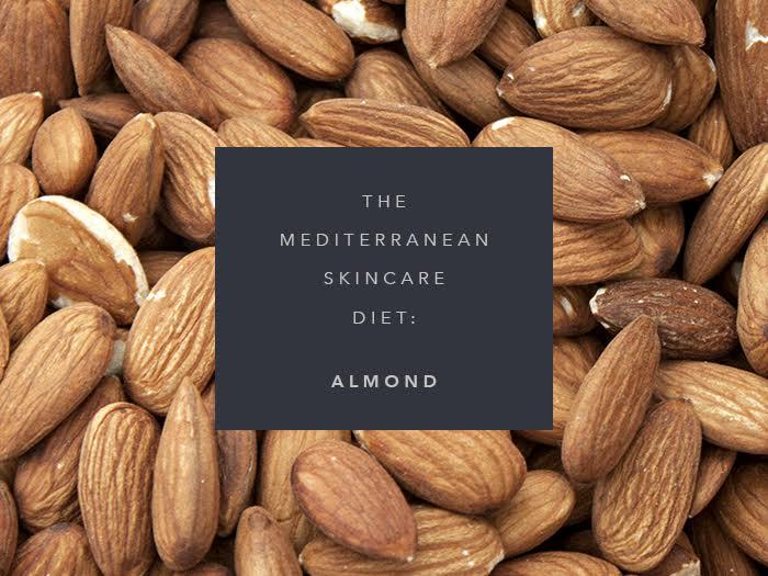 mediterranean skincare diet almonds