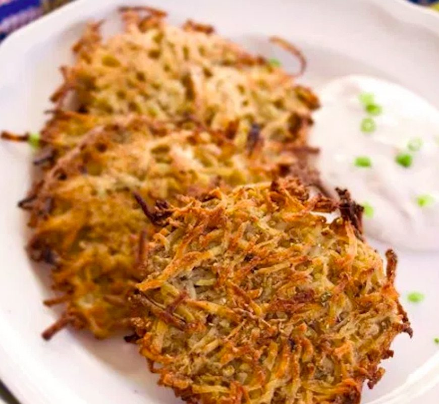 healthy scallion latkes