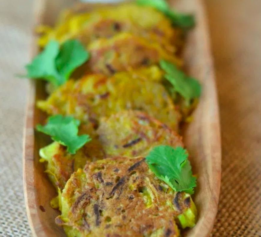 golden beet latkes