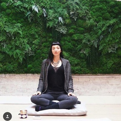 """Sometimes it's okay if the only thing you did today was breathe."" — Yumi Sakugara (Awesome #regram from @mndflmeditation and pic of the awesome @galadarling). #justbreathe #meditation #iamwellandgood"