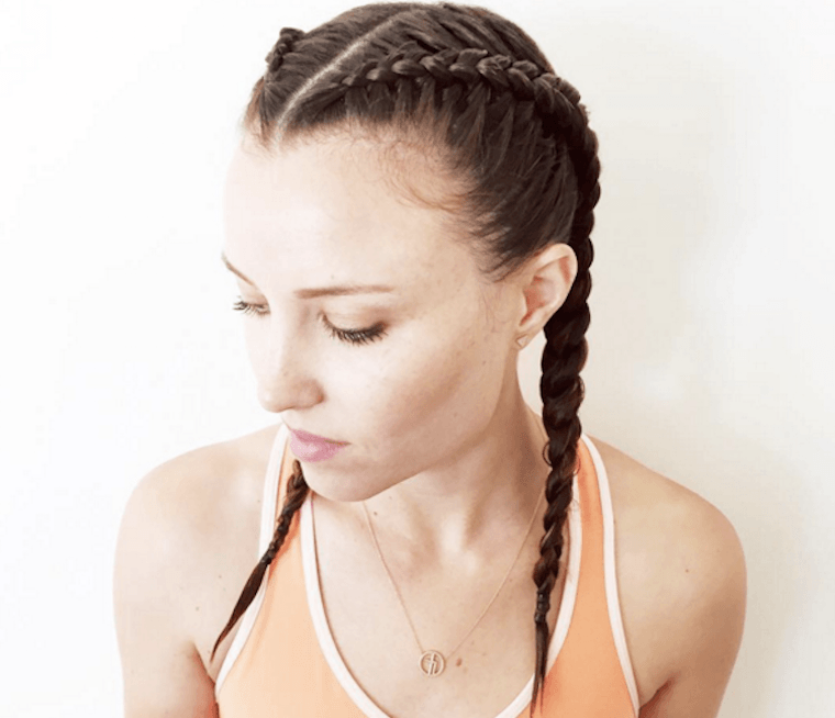 Boxer Braid Workout Hairstyle How To Well Good