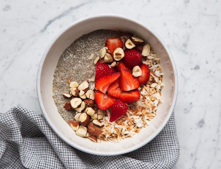 Chia Pudding eating clean