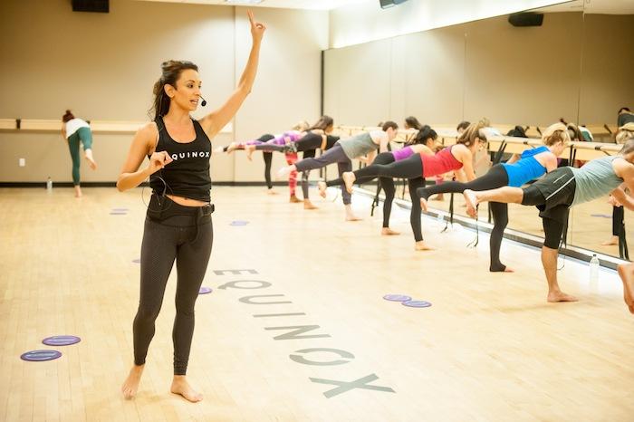 Nicole De Anda teaches a Gold Barre class at Equinox Beverly Hills