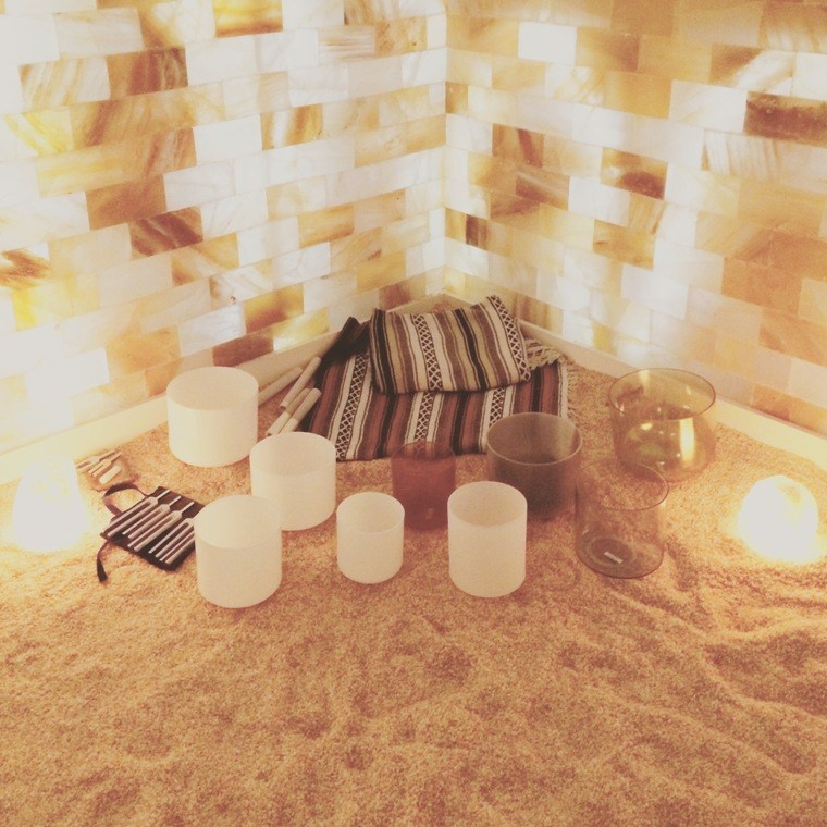 Breathe salt room sound bath