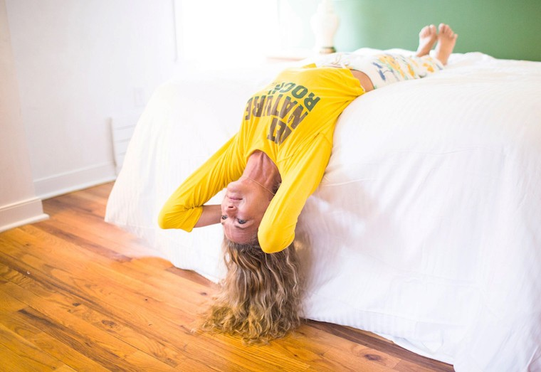 Thumbnail for Some of the best yoga happens in bed: Colleen Saidman Yee shows you how