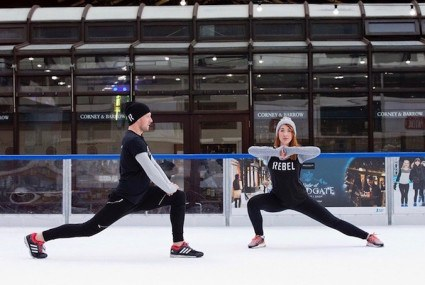 If HIIT classes aren't hard enough for you, try this one on ice