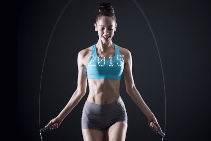 The futuristic jump rope that's part fitness tracker