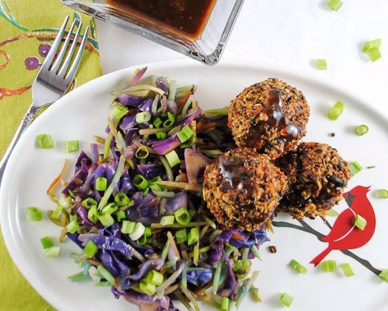 vegetarian, black bean, quinoa, meatball, fiber