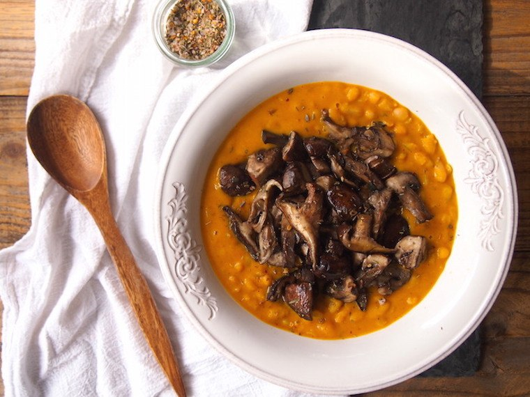 cannellini bean pumpkin risotto, fiber, gluten free, dinner
