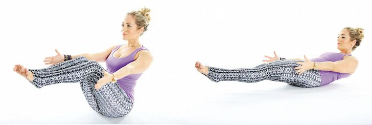 boat pose, empower sequence