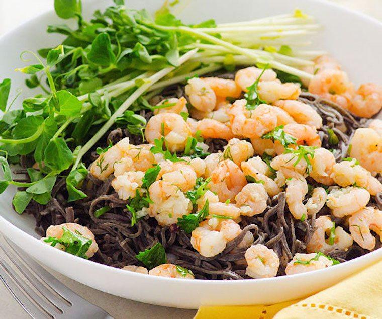 dinner, shrimp, fiber