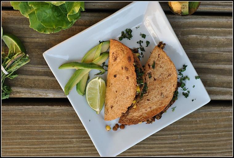 corn lentil tacos, vegan, dinner, fiber
