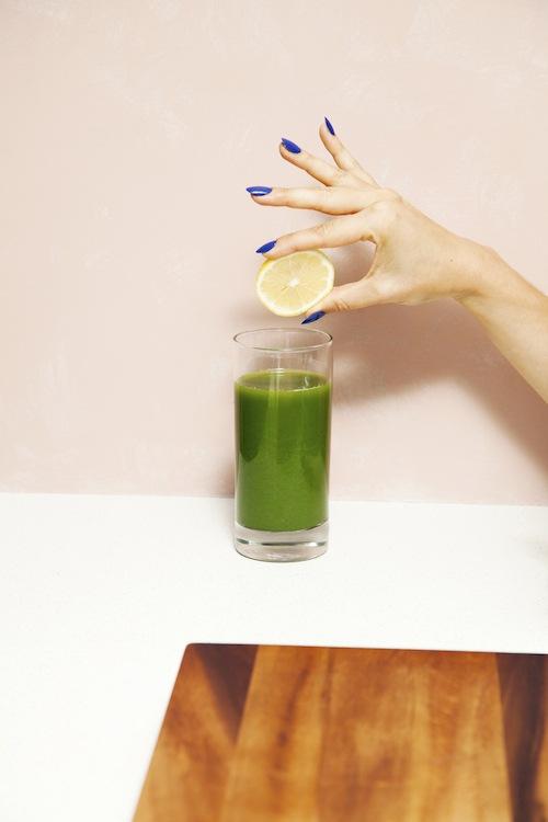 Van Court nails and green juice Wall Street salon
