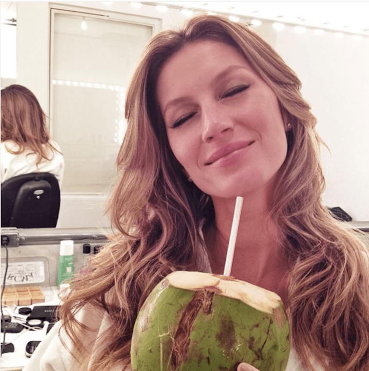 gisele-drinking-coconut