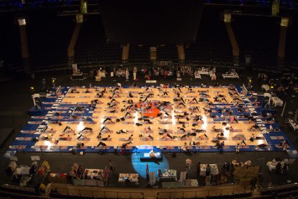 Yes, yoga is taking over the world (Madison Square Garden edition)