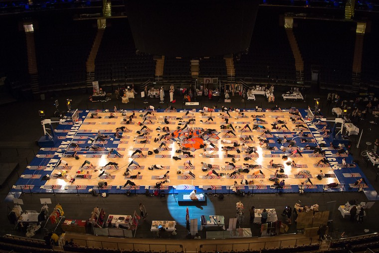 Yogis Descend On Madison Square Garden Well Good