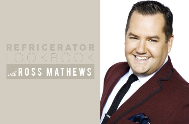 Why Ross Mathews stocks his super-neat fridge supermarket-style