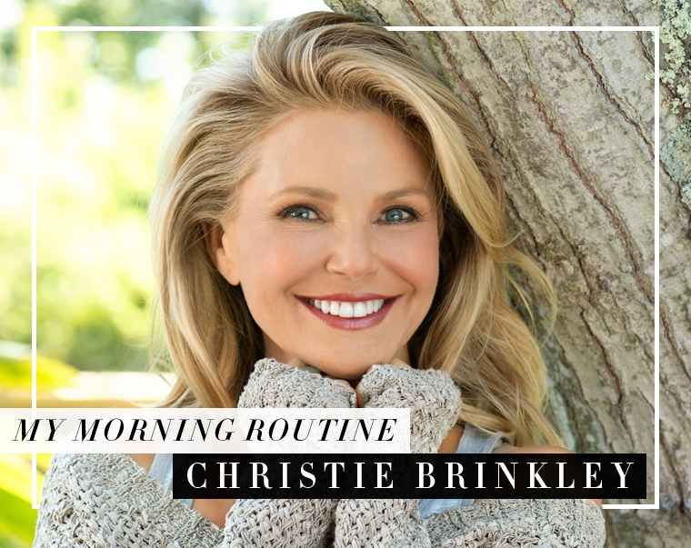 Christie_Brinkley_morning_routine
