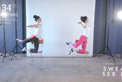 5-minute sculpting workout for toned arms and lean legs with ChaiseFitness
