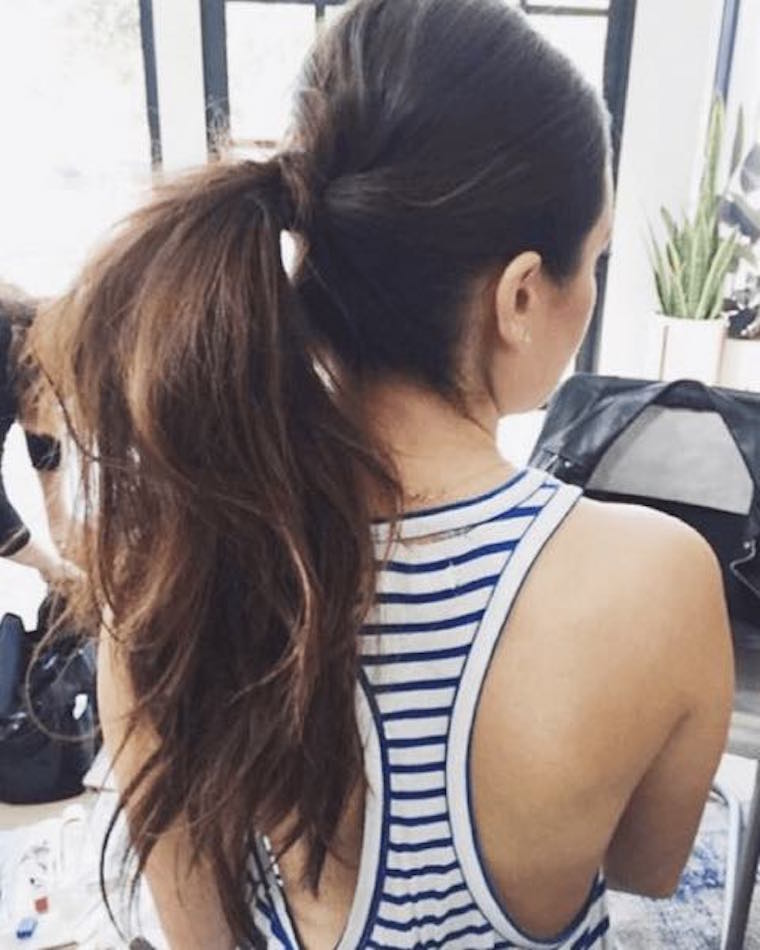 How To Do A High Ponytail In Two Easy Steps Well Good