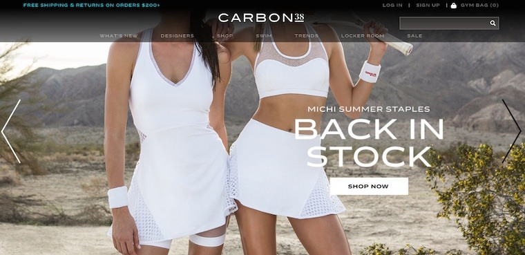 Carbon38 Homepage