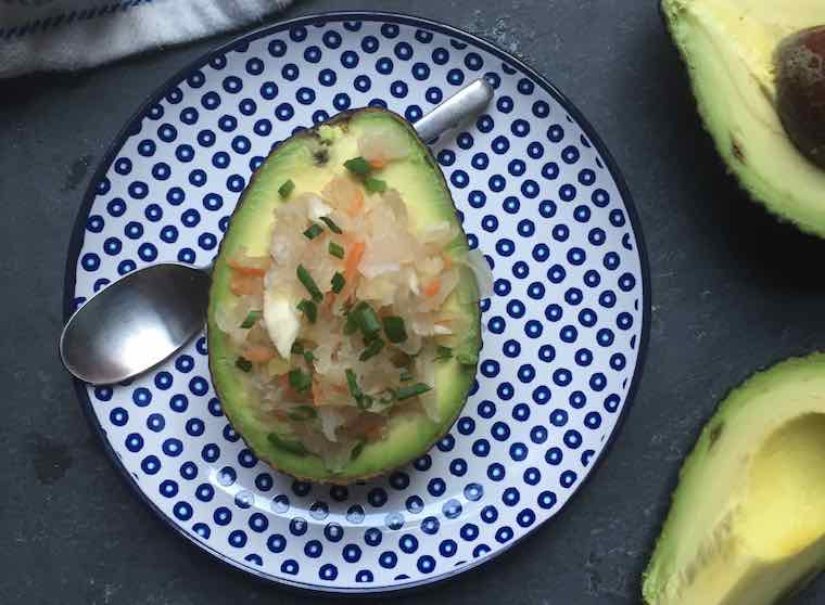 Sauerkraut avocado