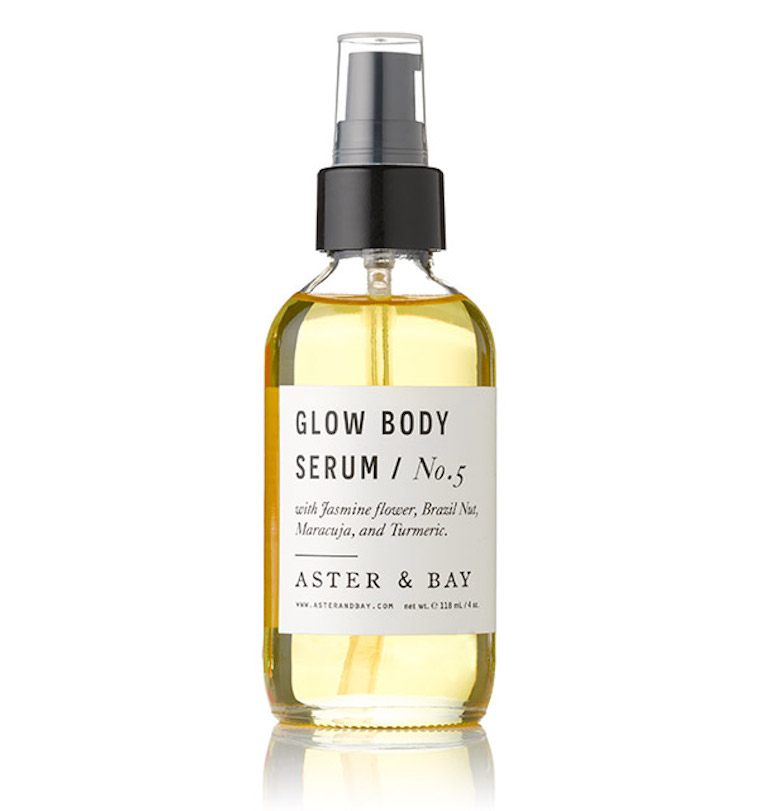 aster and bay glow body serum