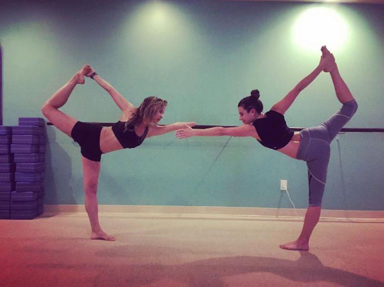 lea michele yoga