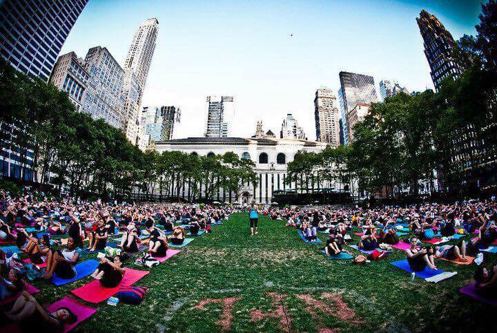 outdoor yoga NYC