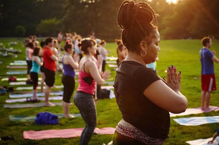outdoor yoga NYC