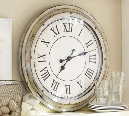 pottery-barn-white-clock