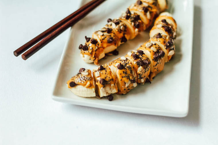 banana almond butter sushi