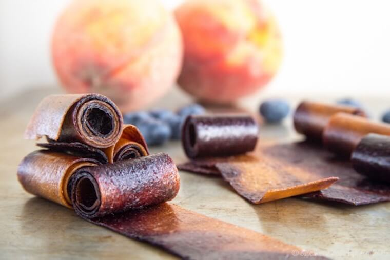 blueberry peach fruit roll up recipe