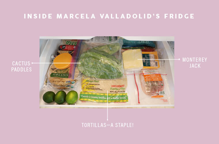 Marcela Valladolid fridge drawer