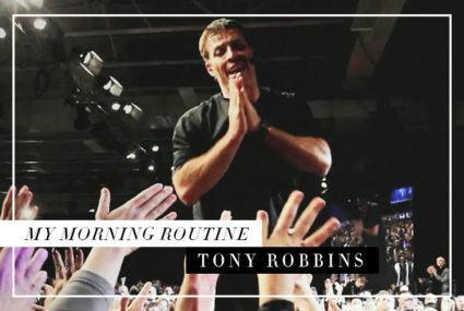 What Tony Robbins, the world's leading self-improvement guru, does every single morning